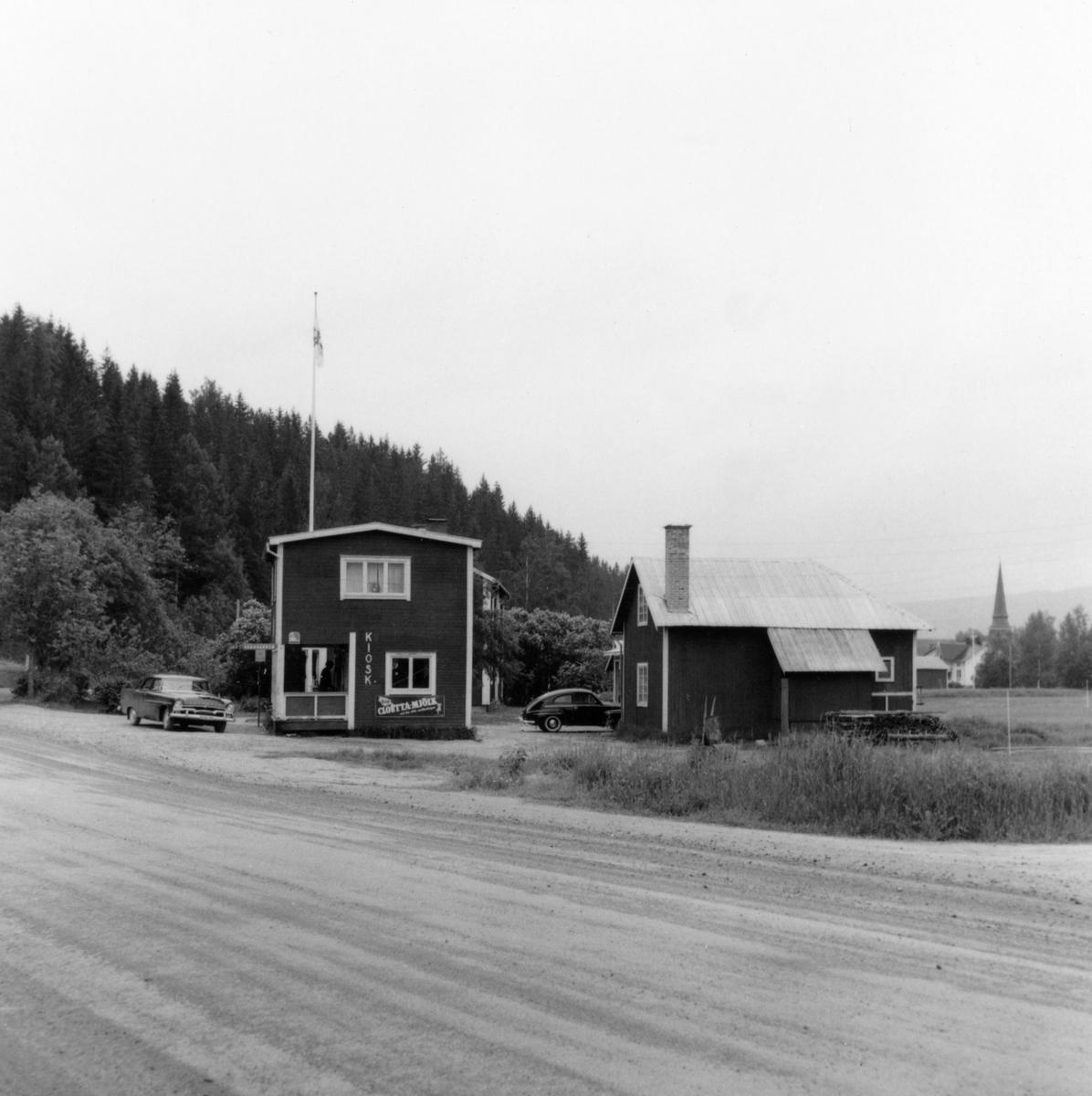 Stöllets busstation med kiosk och väntrum. Från slutet av 1950-talet.