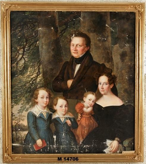 Dr Erik Samuel Wennberg m. familj, Växjö