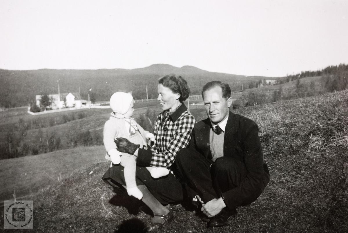 Familien Røynesdal avbildet i Troms.