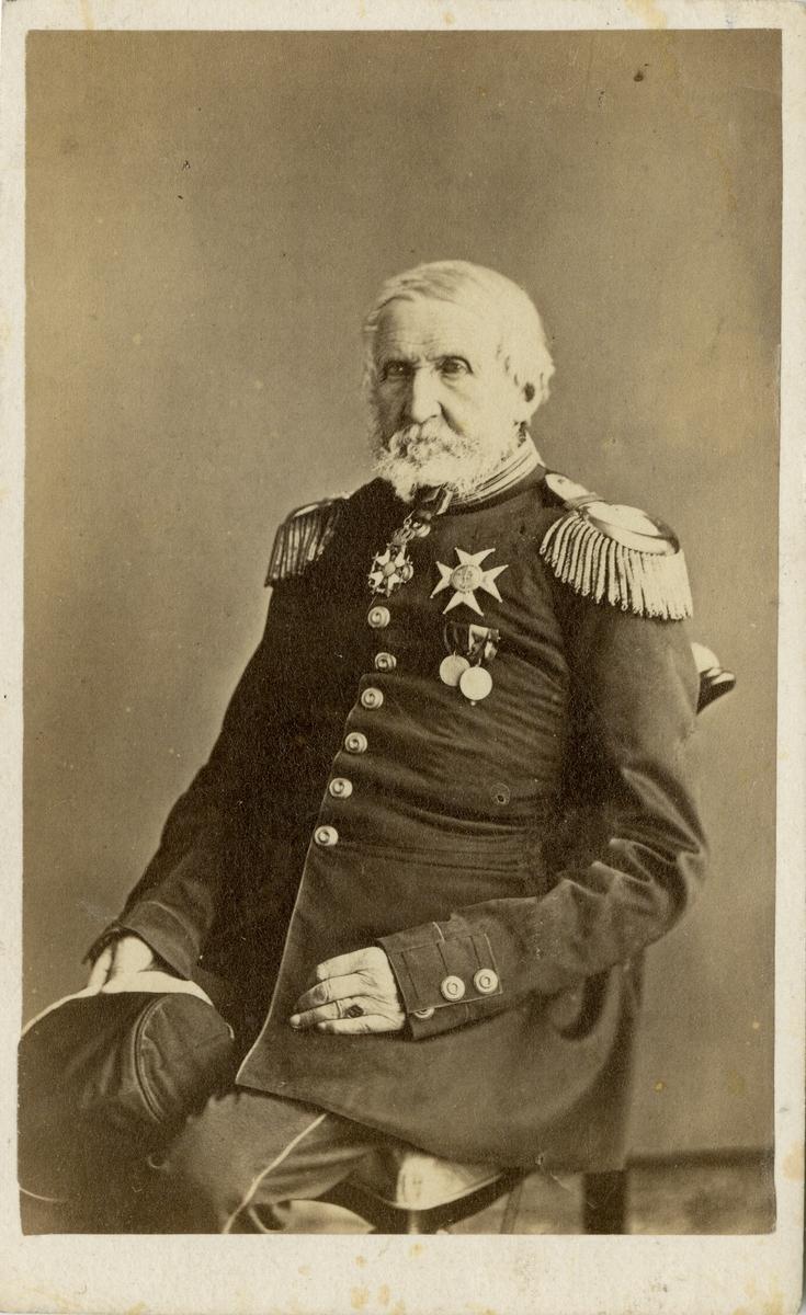 Porträtt av okänd överste vid Kronobergs regemente I 11.