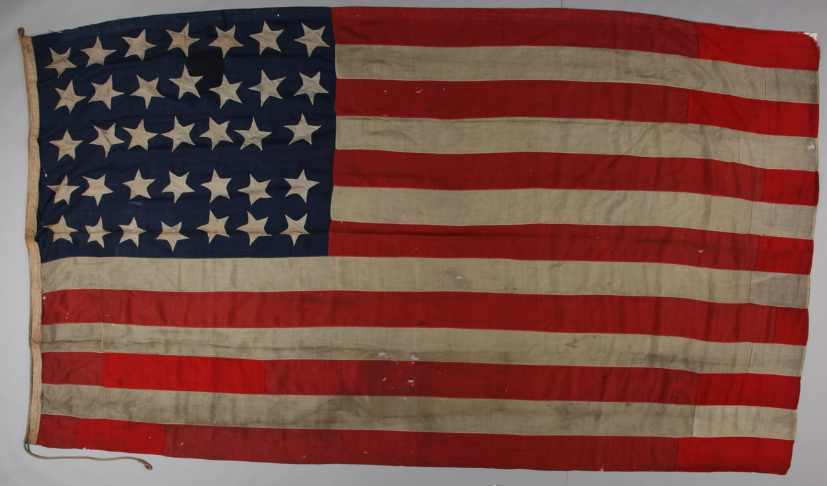 Amerikansk flagg med 35 stjerner