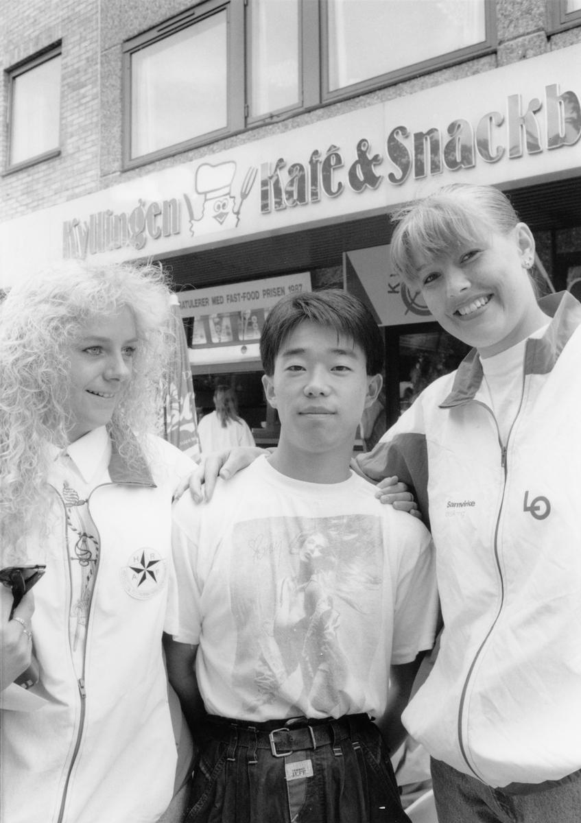 Gruppebilde. Unni Øvergaard, Peter Fu og Marit Batngård.