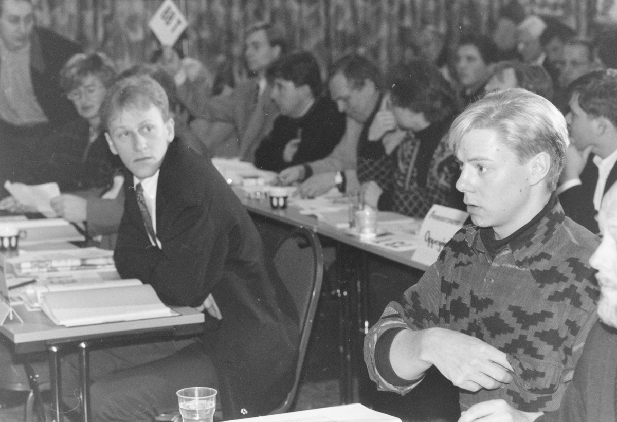 Årsmøte FrP. Fra venstre: Øyvind Strøm og Per Aage Pleym Christensen.