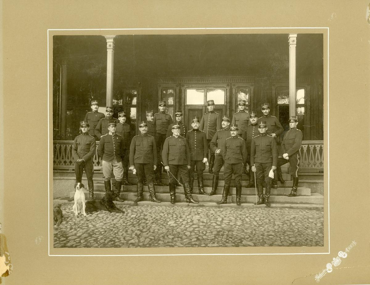 Grupporträtt av officerare från Fältläkarkåren. För namn, se bild nr. 3.