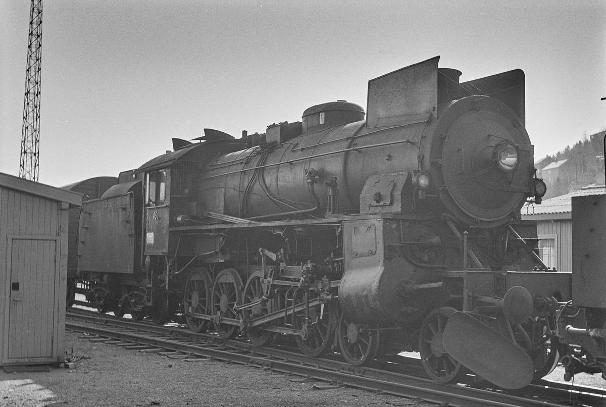Damplokomotiv type 31b nr. 451 på Marienborg ved Trondheim.