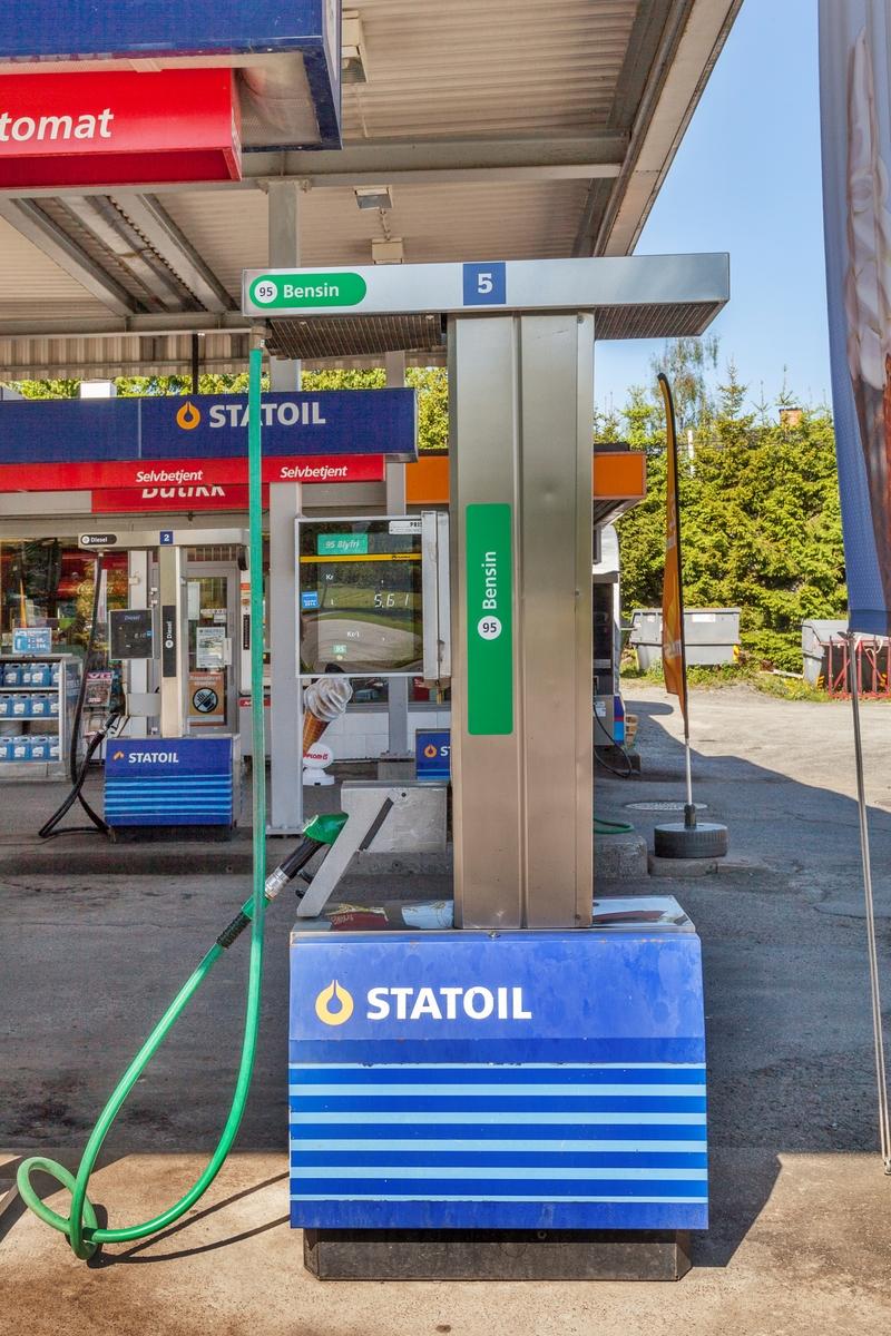 Statoil Hemnes. Bensinpumpe for bensin.