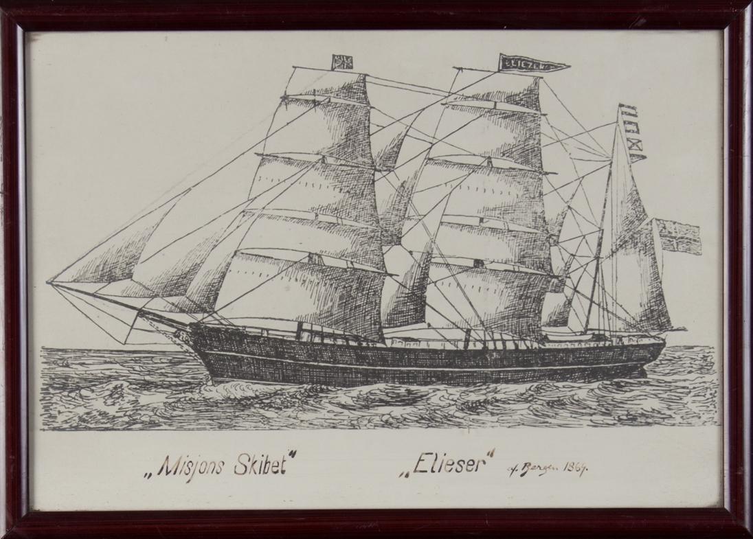 Fotografi av enkel tegning av bark ELIESER.