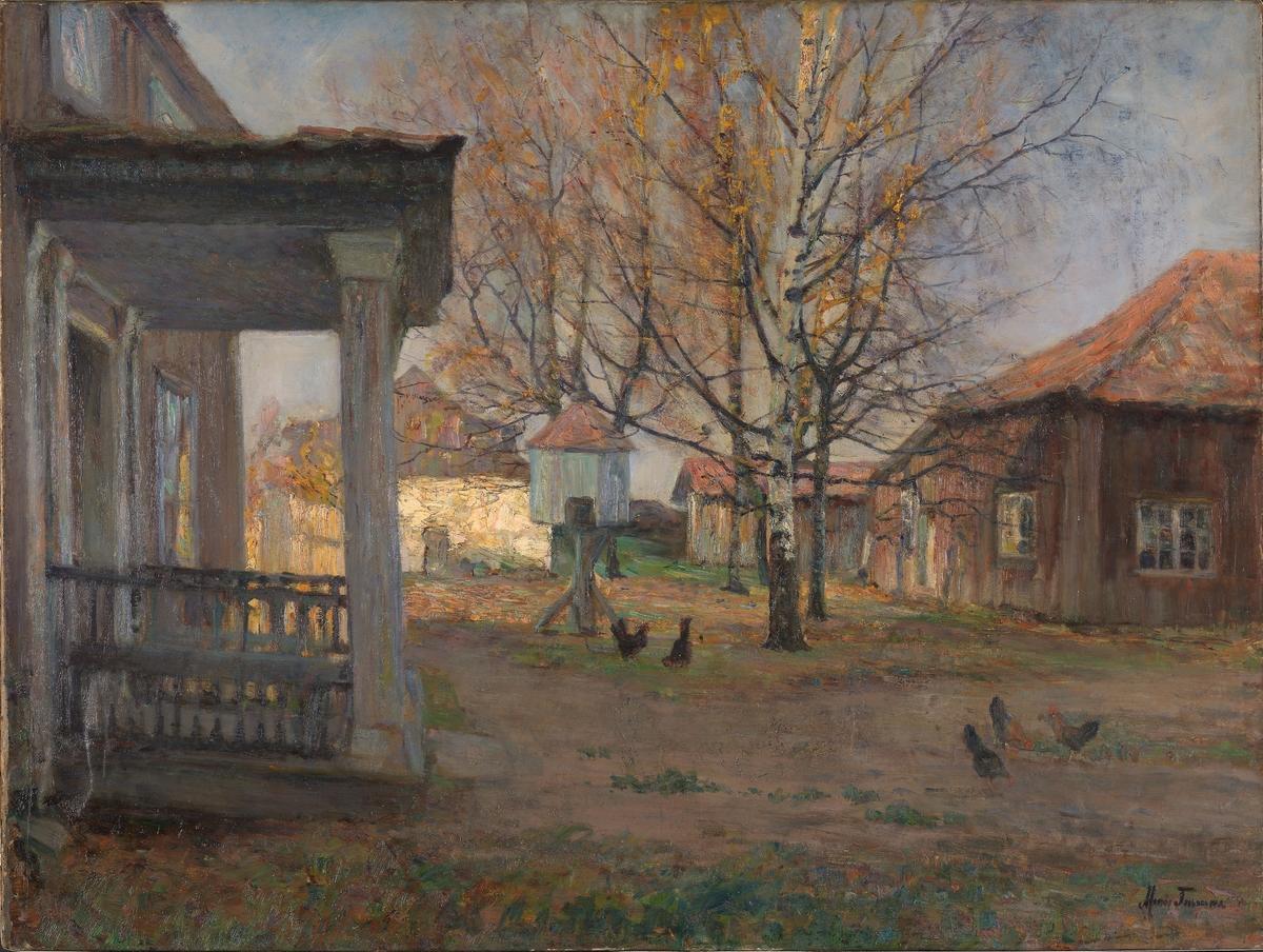 Senhøstes, Vøyenvollen i Oslo [Maleri]