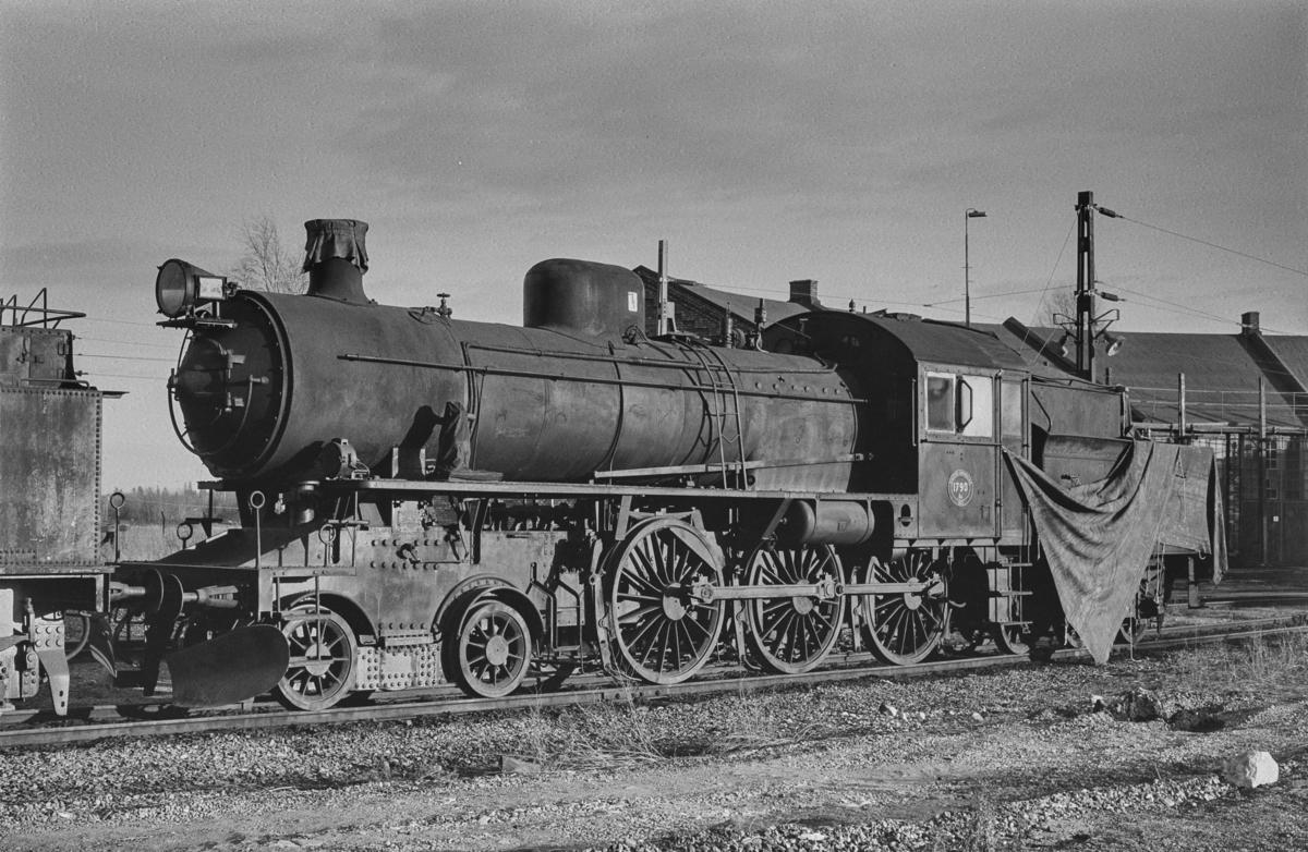 Svensk, damplokomotiv type A6 nr. 1790 i Gävle i Sverige.