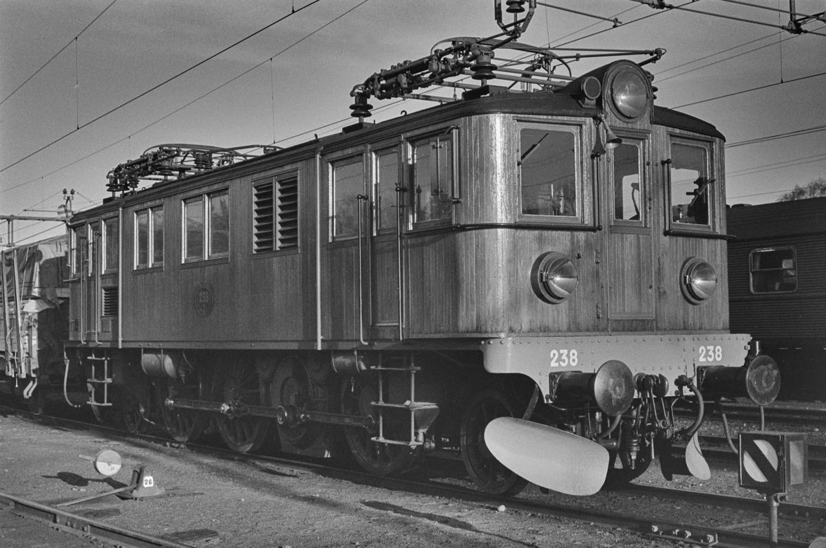 Svensk elektrisk lokomotiv type Du nr. 238 i Ängelholm i Sverige.