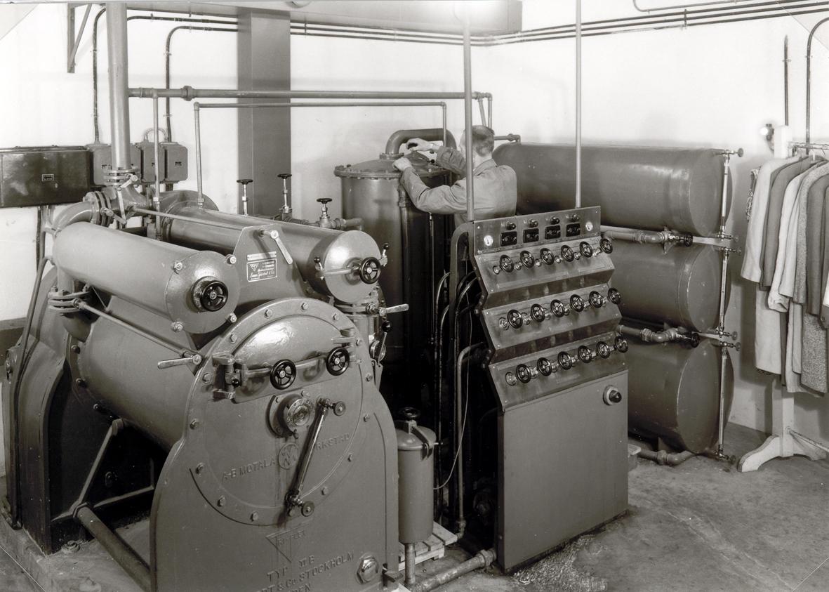 Göranssons tvättinrättning.  Foto 1947-05-23