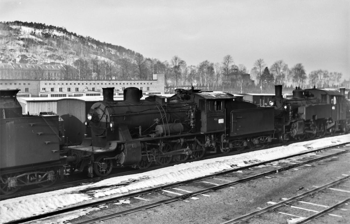 Hensatt damplokomotiv type 24c nr. 405 i Lodalen i Oslo.