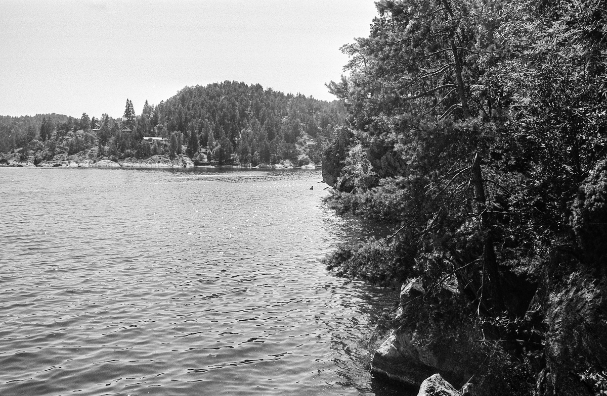 Oversikt over Drøbak mot Oslofjorden til Hurumlandet.