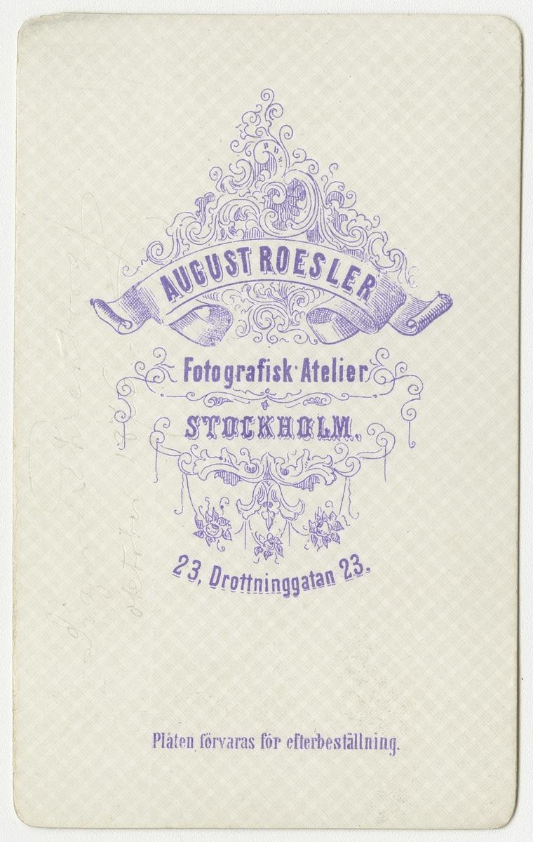 Porträtt av August Torsten Sigurd Ehrenborg vid Krigsskolan Karlberg.  Se även bild AMA.0002191, AMA.0002196, AMA.0007180 och AMA.0007233.