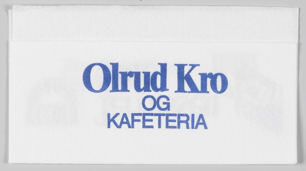 Logoene til Rica Hotell kjeden og Olrud City og en reklametekst for Olrud kro og kafeteria, Rica Olrud Hotel og Terassen Cafe beliggende på Ringsaker/Hamar. I 2013 ble Rica hotel Olrud Hamar kjøpt opp av Scandic Hotels kjeden.