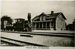 Station öppnad 2 april 1899. Bispår till Målerås station. En