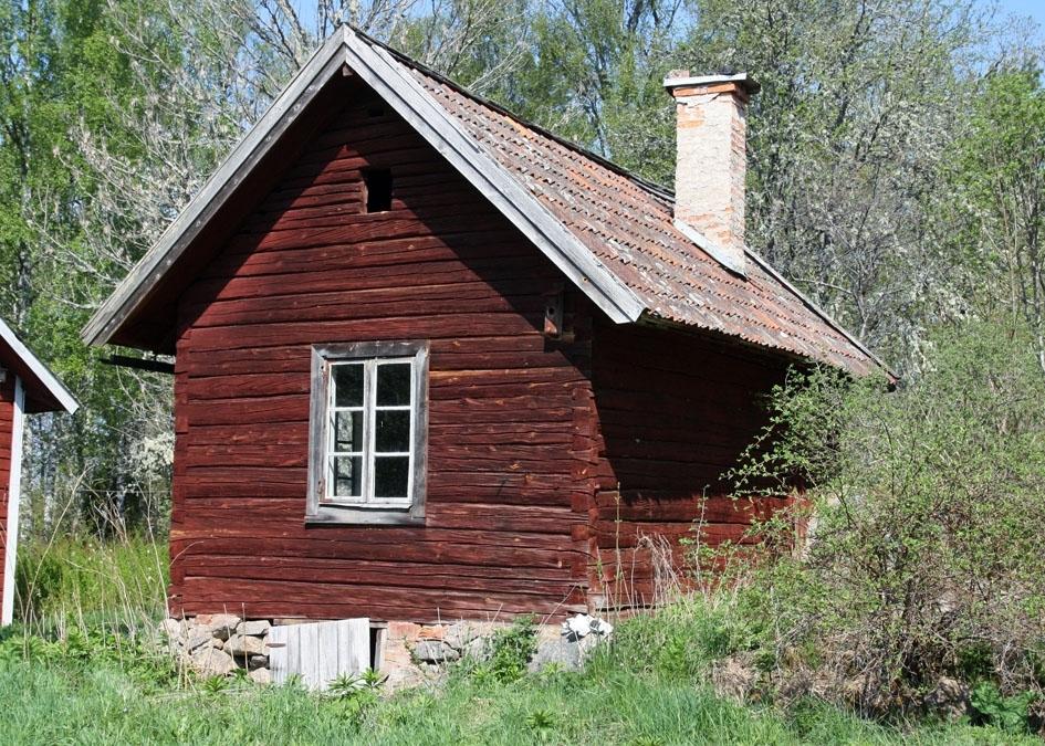 Restaurering av överloppsbyggnad, brygghus, innan, Norrgarn, Bladåkers socken, Uppland 2010