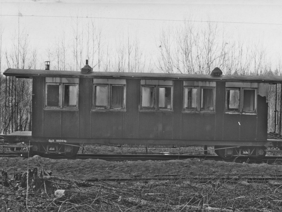 Personvogn Co 2 på Bingsfoss stasjon.