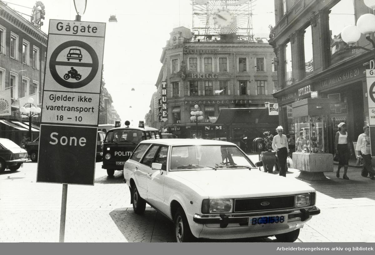 Karl Johans gate. Oktober 1978