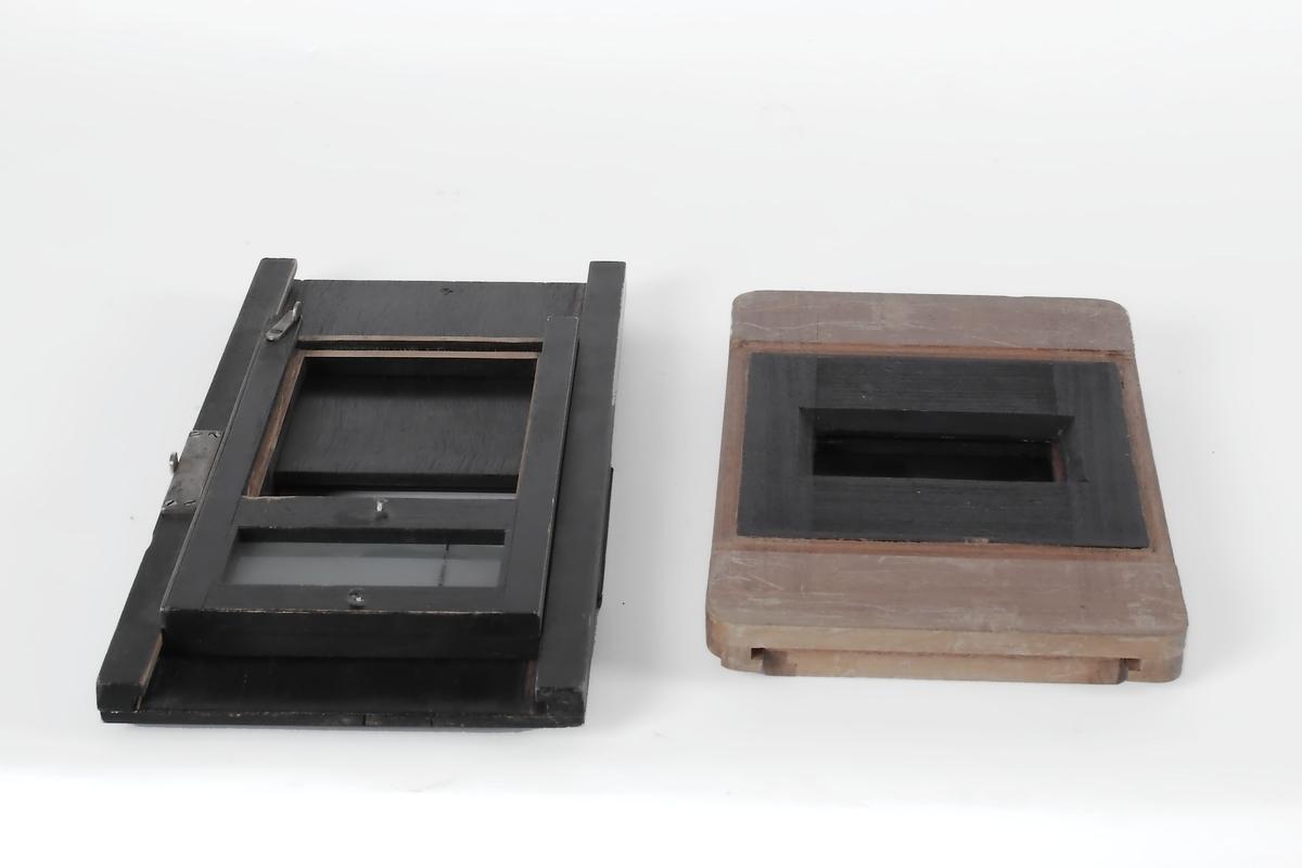 Atelierkamera, enkeltkassett med tredeling.