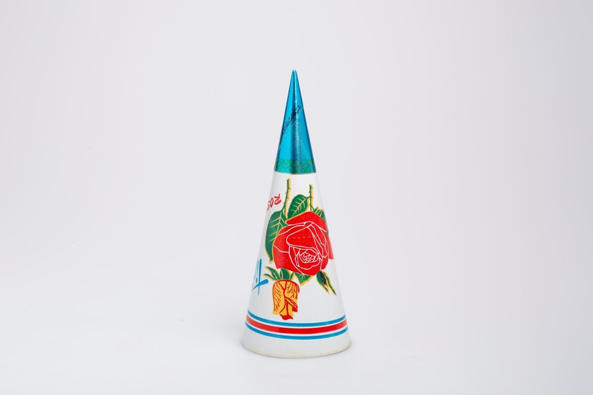 En gul og en rød rose. En eskimo som står og rekker opp den ene hånden i været.