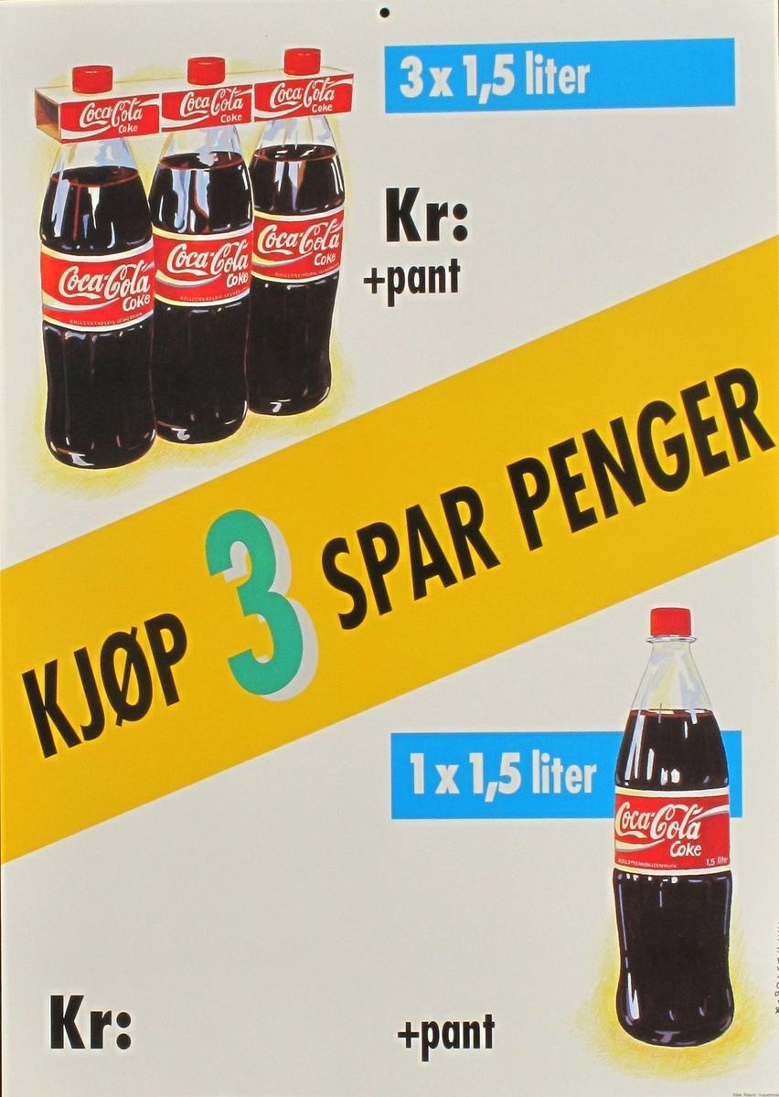 3-pack Coca-Cola.