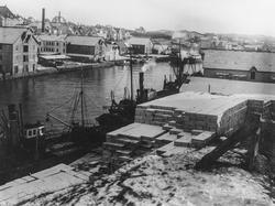 Søndre Smedasundet sett mot sydøst, ca. 1917-18.