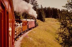 Museumstog i Sætrabakken på Urskog-Hølandsbanen