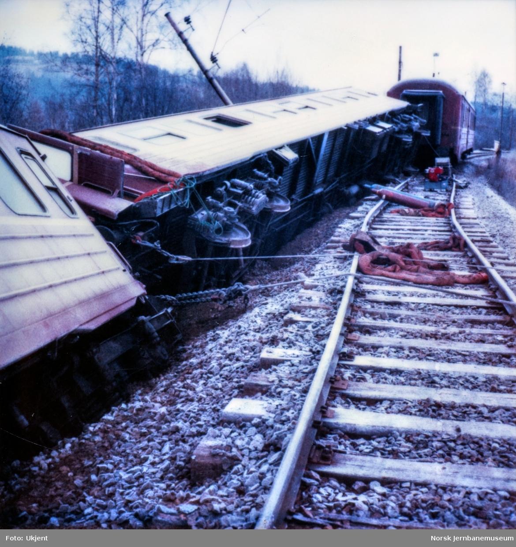 Avsporede personvogner ved Nygard stasjon på Gjøvikbanen
