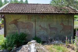 Dokumentation av väggmålningar utförda av konstnär Bror Drak