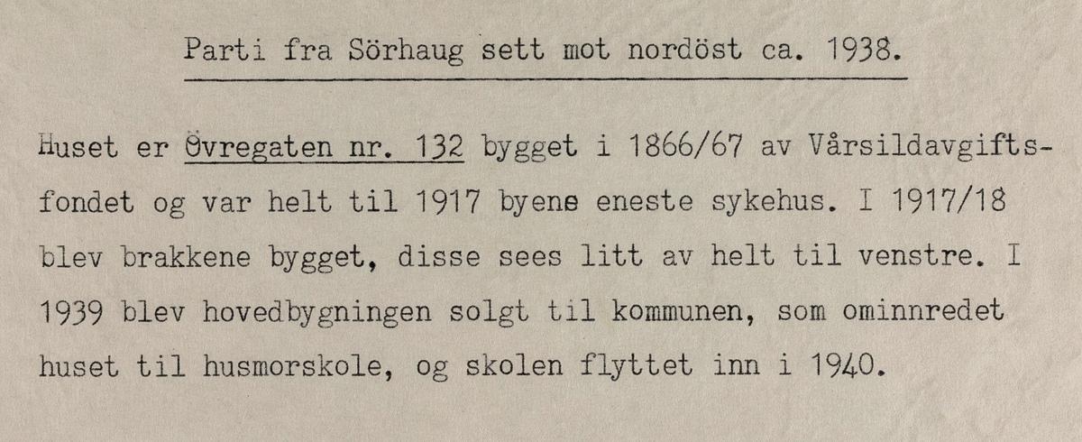 Parti fra Sørhaug sett mot nordøst, ca. 1938.