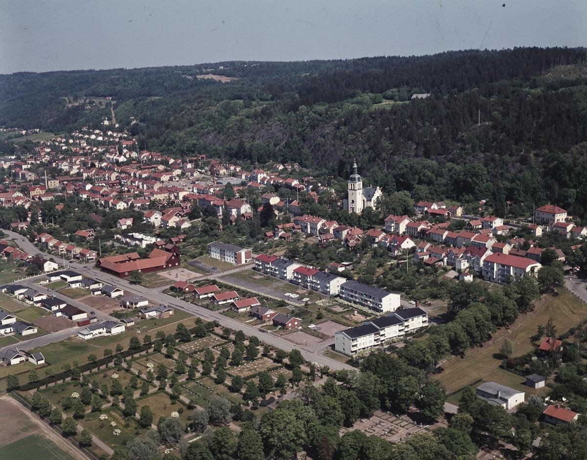 Flygfoto över Gränna i Jönköpings kommun.  135/1970