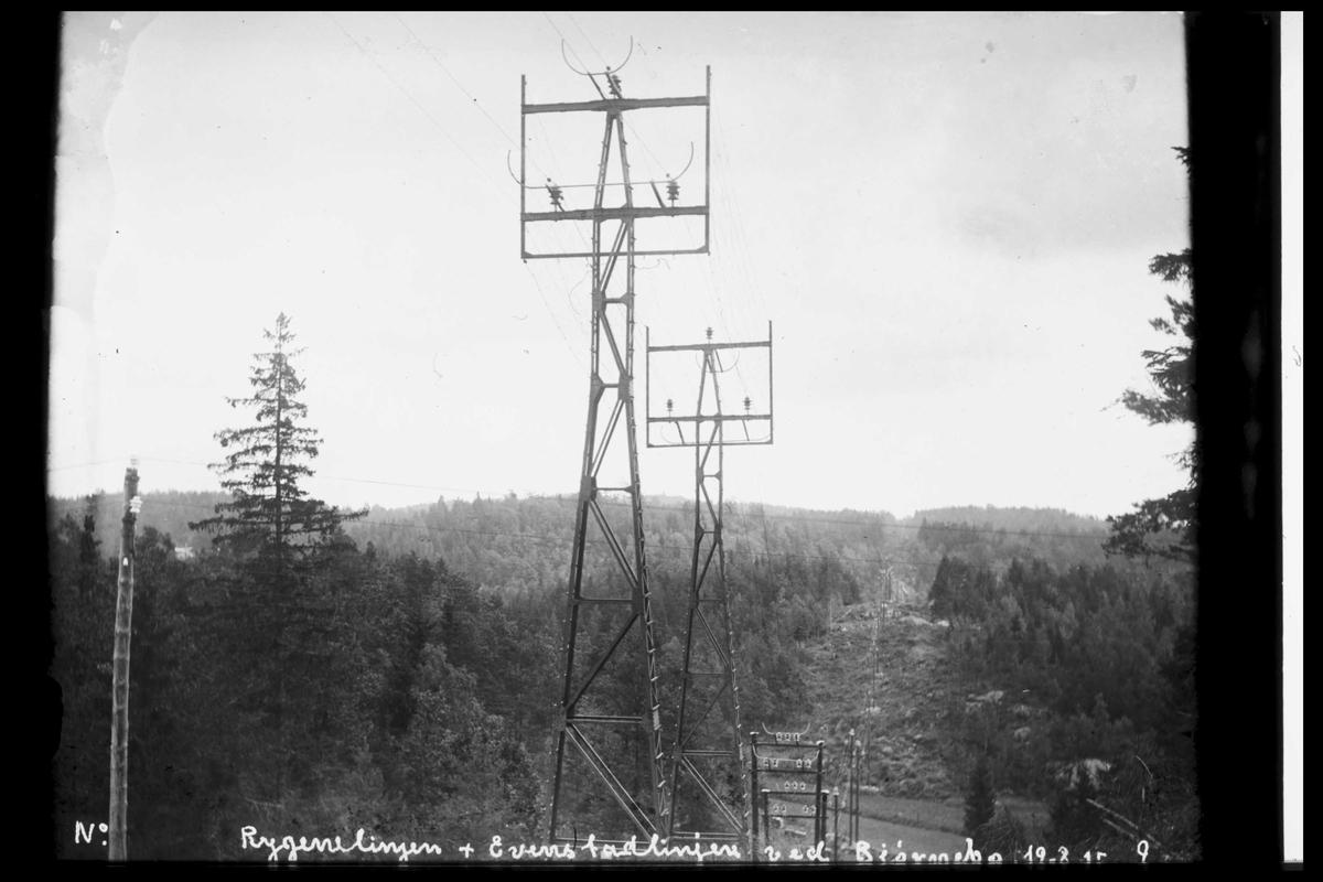 Arendal Fossekompani i begynnelsen av 1900-tallet CD merket 0565, Bilde: 94 Sted: ?? Beskrivelse: Linja til Evenstad og Rygene