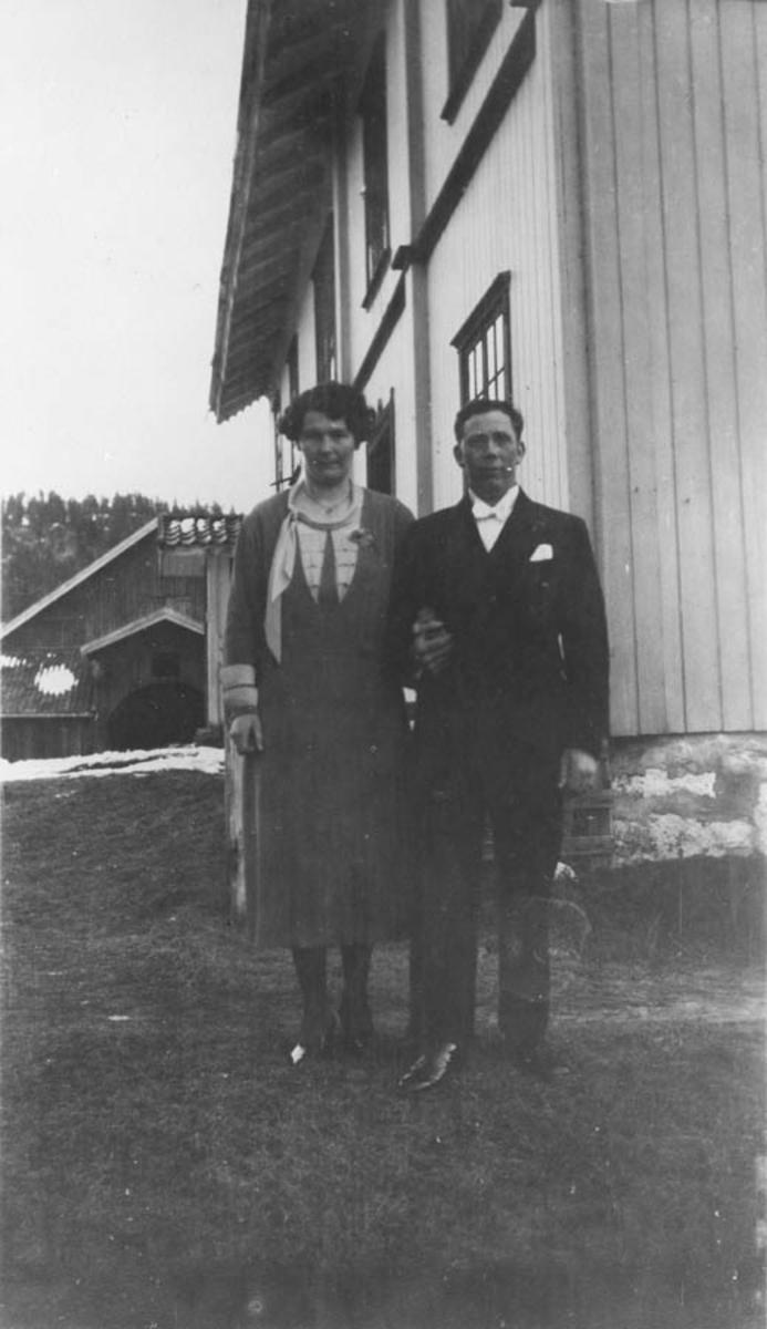 Bryllup. Johanne f. Gjevik og Herman Hansen.