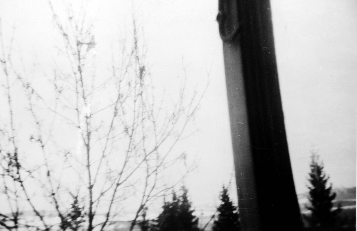 Tysk bombefly over Kjeller under krigen.