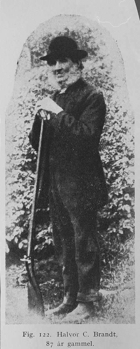 Halvor C. Brandt. Bilde fra 1896. Da var han 87 år gammel.