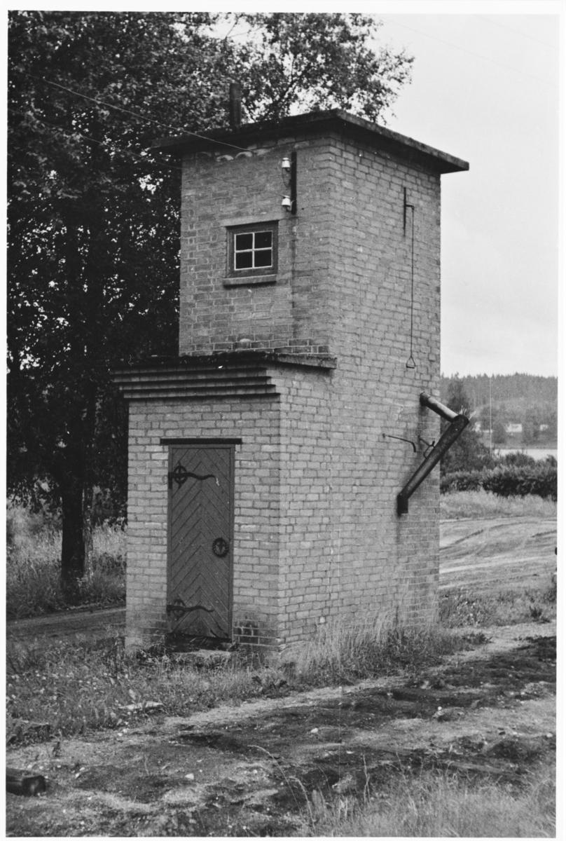 Nordre vanntårn på Bjørkelangen etter nedleggelsen, etter at sporet er fjernet.