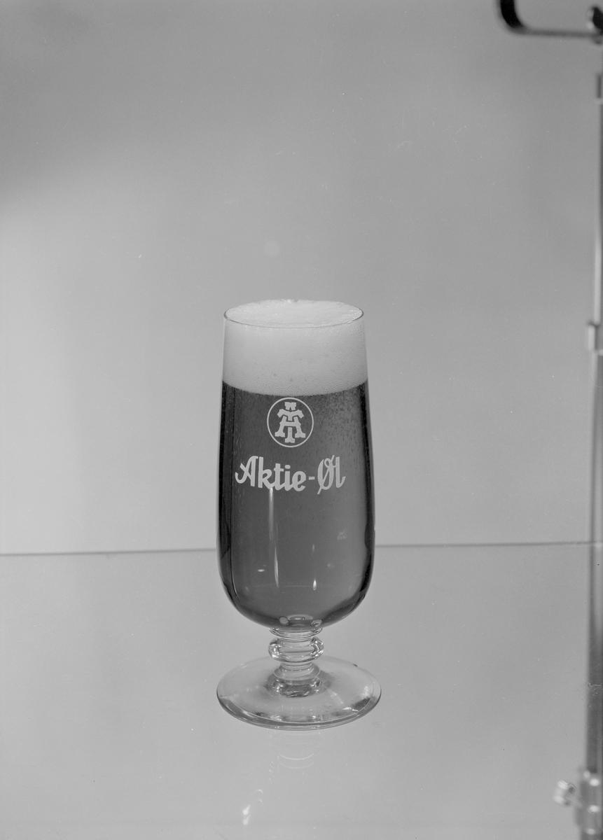 Ølglass fra E.C. Dahls Bryggeri og Aktiebryggeriet