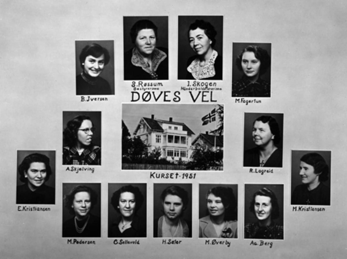 DØVES VEL I STORHAMARGATA 74, V, ELEVKULL 1951.