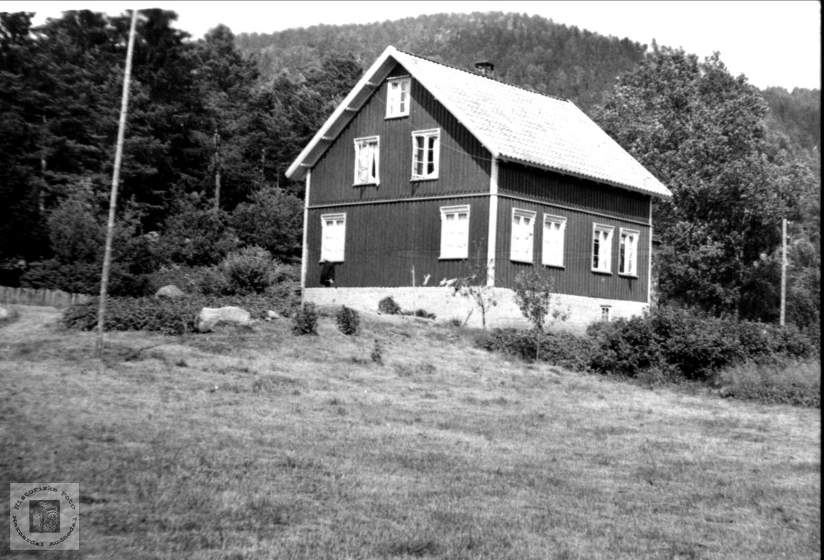 """""""Der Vest"""" på Stedjan i Bjelland."""