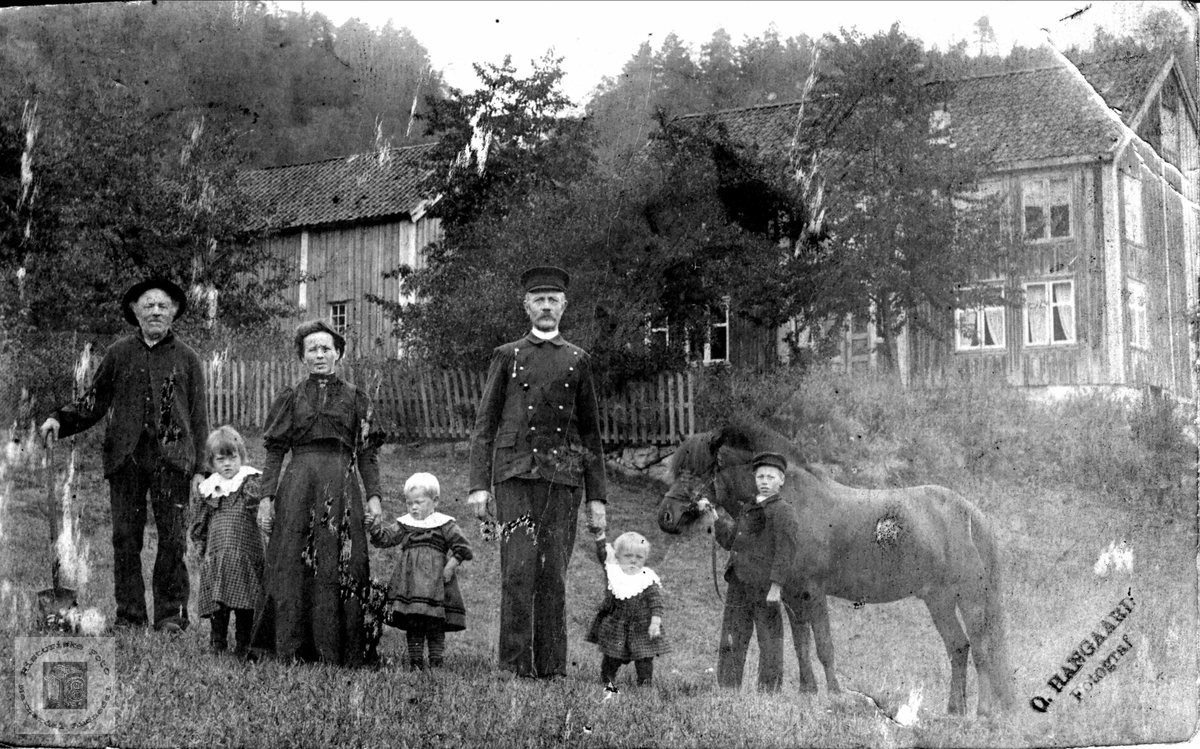 Storfamilie på Mindrebø i Bjelland.