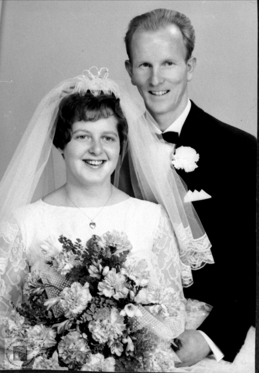 Brudebilde av Allis og Torjus Ågedal