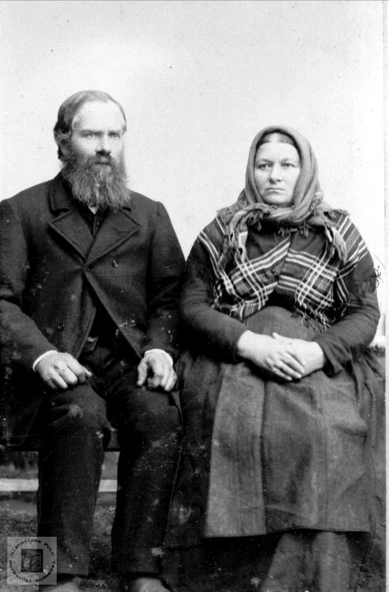 Ekteparet Ole og Tarjer Haraldstad, Bjelland.