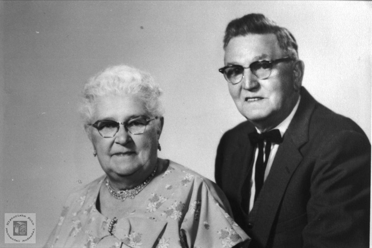 Ekteparet Anna Sveinall og Archi Cullen