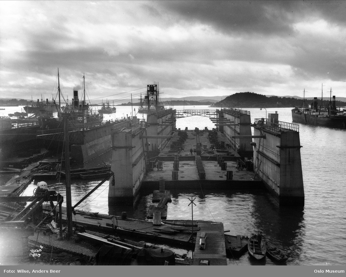 Nylands verksted, skipsverft, dokk, skip