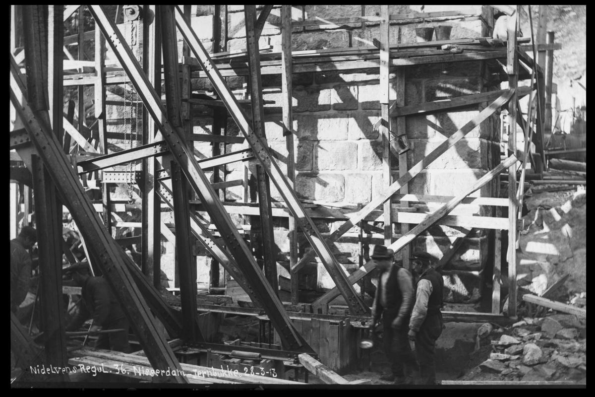 Arendal Fossekompani i begynnelsen av 1900-tallet CD merket 0474, Bilde: 41 Sted: Nisser Beskrivelse: Damanlegg