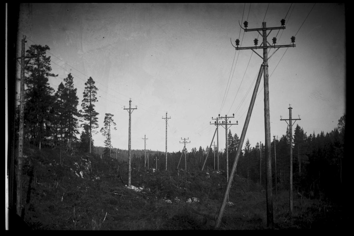 Arendal Fossekompani i begynnelsen av 1900-tallet CD merket 0565, Bilde: 87 Sted: Bøylefoss ?? Beskrivelse: Linja til Evenstad og Rygene