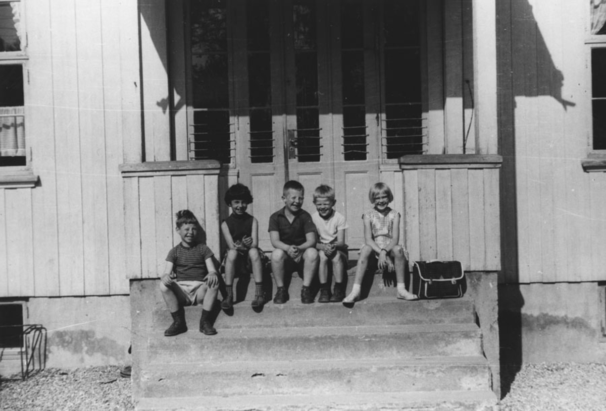 Elever ved Bjerke skole