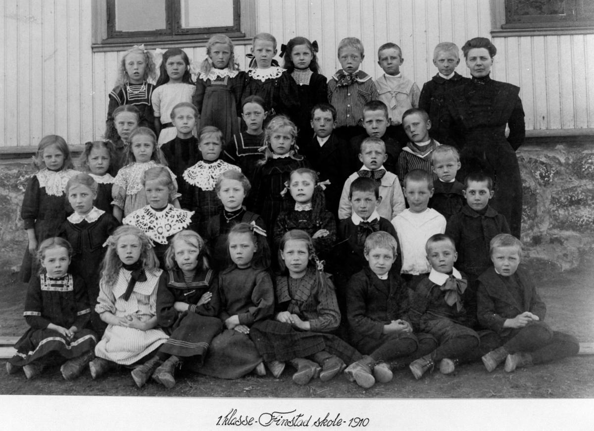 Klassebilde. 1. klasse, Finstad skole.