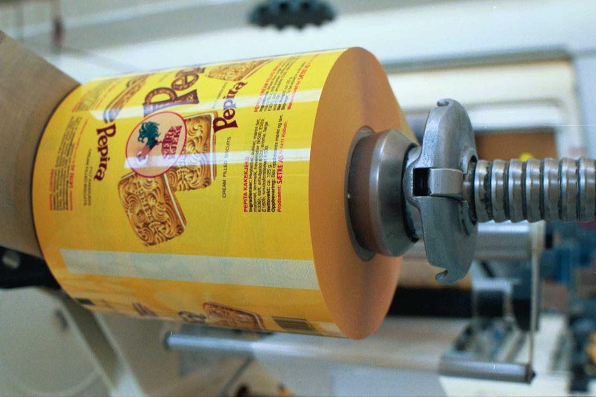 Emballasje, Pepitakjeks, fabrikkmiljø